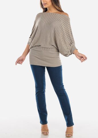 Image of Gold Elastic Waist Top