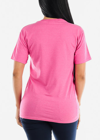 "Image of Oversized Pink Graphic Top ""Love"""