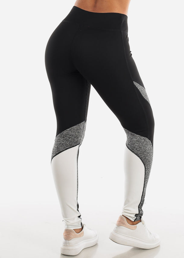 Activewear Black Colorblock Leggings