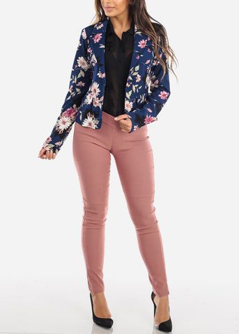 Image of Floral Blue Blazer