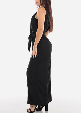 Image of Black Wide Leg Jumpsuit