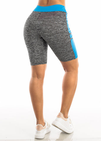 Image of Activewear Heather Blue Bermuda Shorts