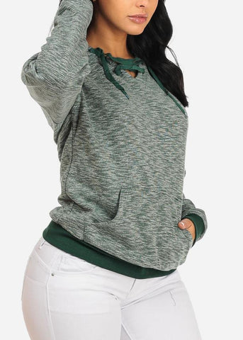 Image of Green Kangaroo Pocket Hoodie