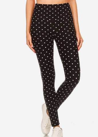 Image of Activewear Polka Dot Black Leggings