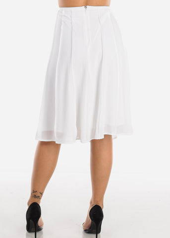 Image of White A-Line Skirt