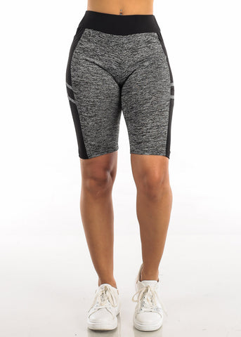 Image of Activewear Heather Black Bermuda Shorts