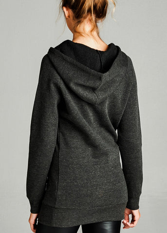 Image of Fleece French Terry Charcoal Hoodie