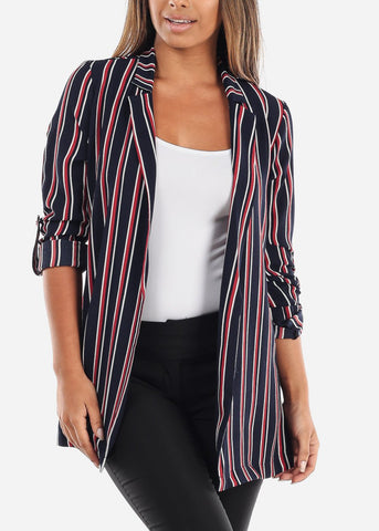 Image of  Striped Navy Blazer