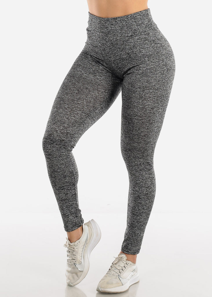 Activewear Push Up Heather Grey Leggings