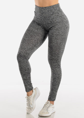 Image of Activewear Push Up Heather Grey Leggings
