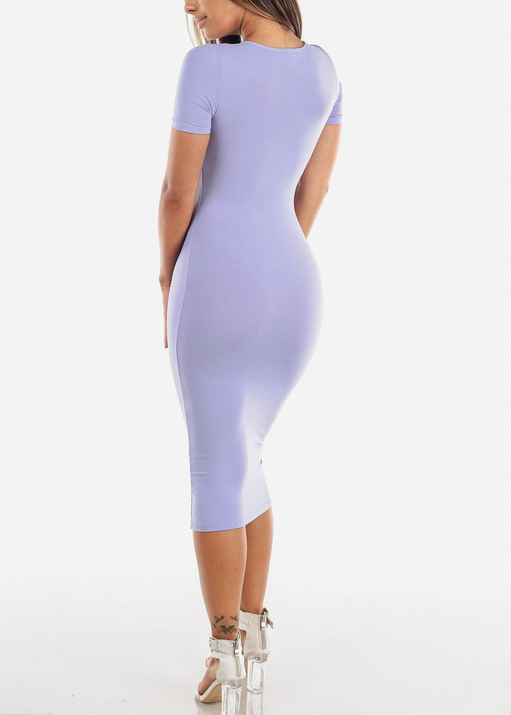Lavender Bodycon T-Shirt Dress
