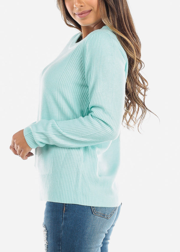 Mint Ribbed Sweater