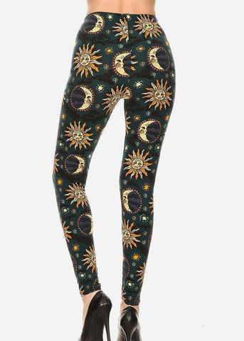 Image of Activewear Sun & Moon Printed Leggings