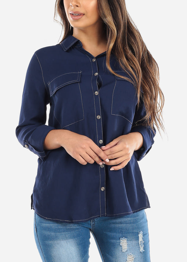 Blue Button Down Shirt