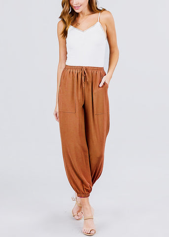 Image of Brick Woven Jogger Pants