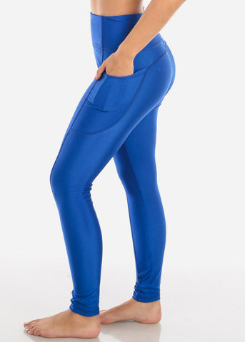 Image of Activewear High Rise Blue Leggings