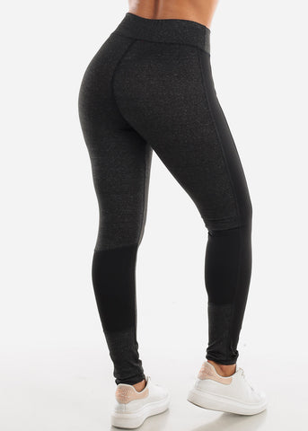 Image of Activewear Charcoal & Black Leggings