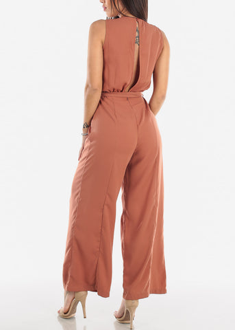 Mauve Wide Leg Jumpsuit