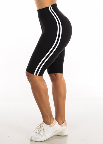 Image of Activewear Black Bermuda Shorts