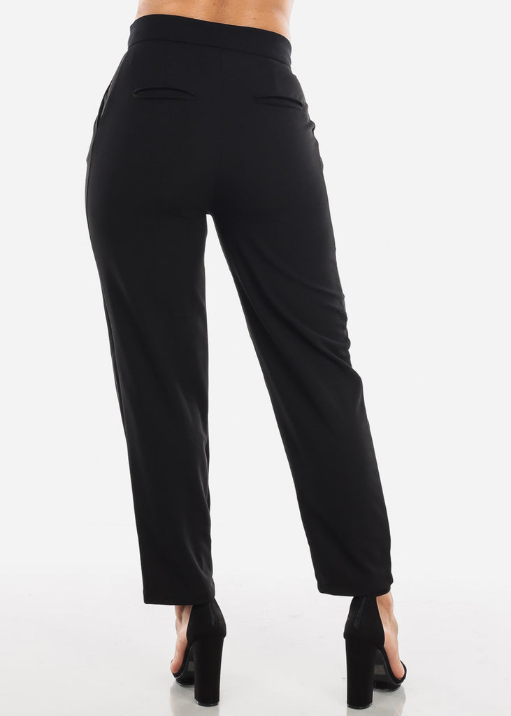 High Rise Black Dressy Pants