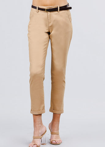 Image of Cotton Khaki Dress Pants