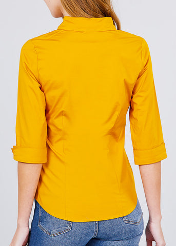 Mustard Button Up Shirt