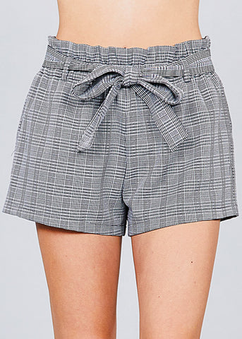 Image of Houndstooth Paperbag Shorts