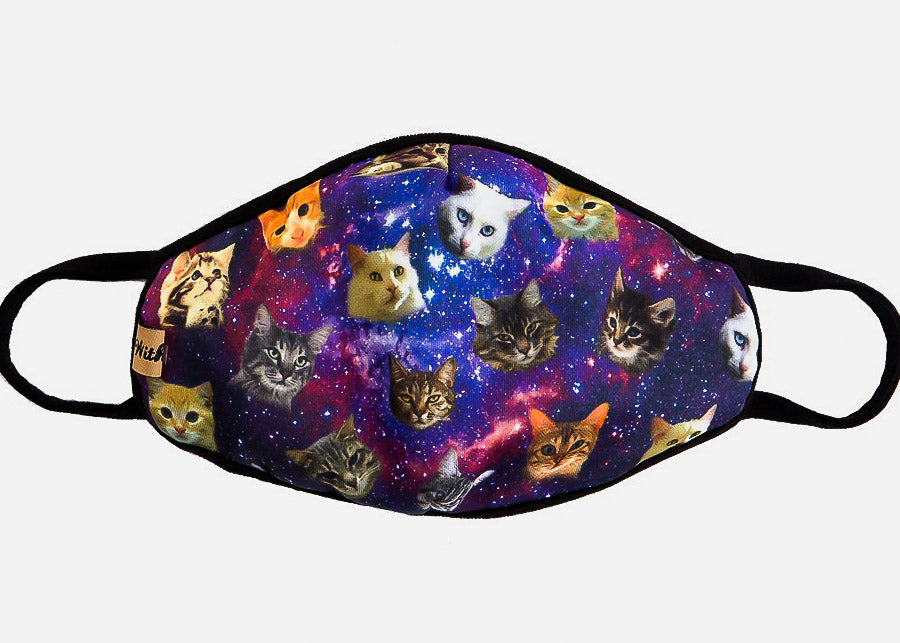 Purple Cats Face Cover
