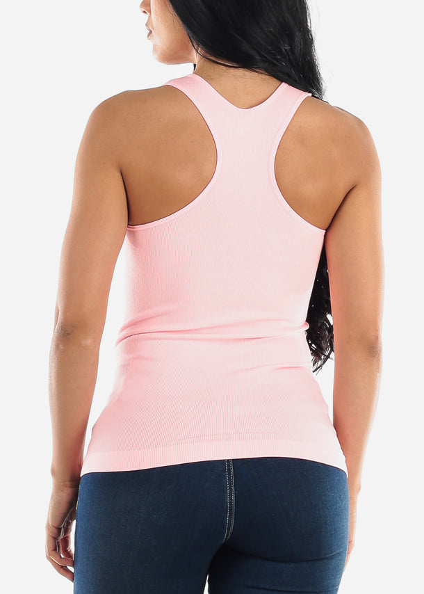 One Size Racerback Seamless Top (Pink)