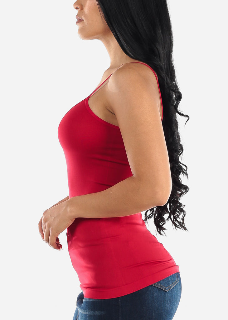 Red Seamless Spaghetti Top