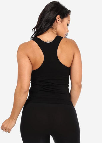 Image of One Size Racerback Top (Black)