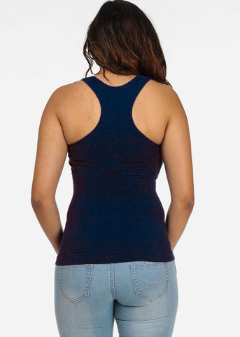 One Size Racerback Seamless Top (Navy)