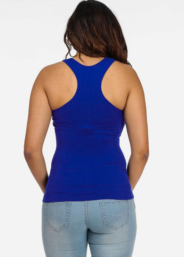 One Size Racerback Seamless Top (Royal Blue)