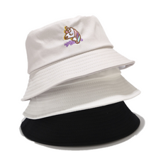 Load image into Gallery viewer, Embroidery Bucket Hat - Unicorn