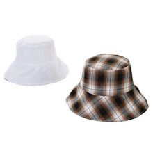 Load image into Gallery viewer, Women's Reversible Plaid Bucket Hat