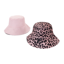 Load image into Gallery viewer, Women's Reversible Leopard Print Bucket Hat