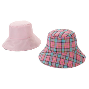 Women's Reversible Plaid Bucket Hat