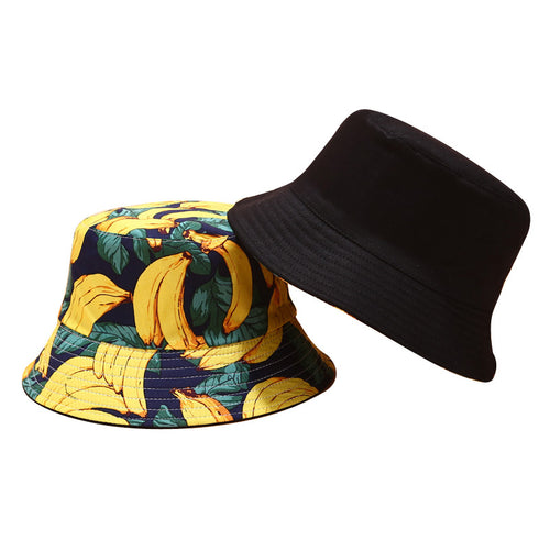 Fruit Print Bucket Hat - Banana