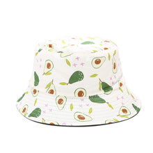Load image into Gallery viewer, Fruit Print Bucket Hat - Avocado