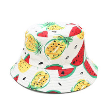 Load image into Gallery viewer, Fruit Print Bucket Hat - Pineapple Watermelon