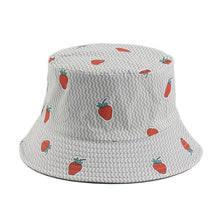 Load image into Gallery viewer, Fruit Print Bucket Hat - Strawberry
