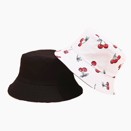Fruit Print Bucket Hat - Cherry