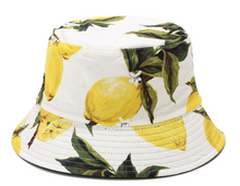 Load image into Gallery viewer, Fruit Print Bucket Hat - Lemon