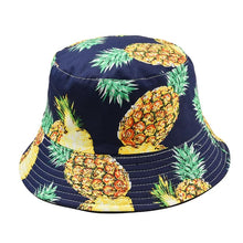 Load image into Gallery viewer, Fruit Print Bucket Hat - Pineapple