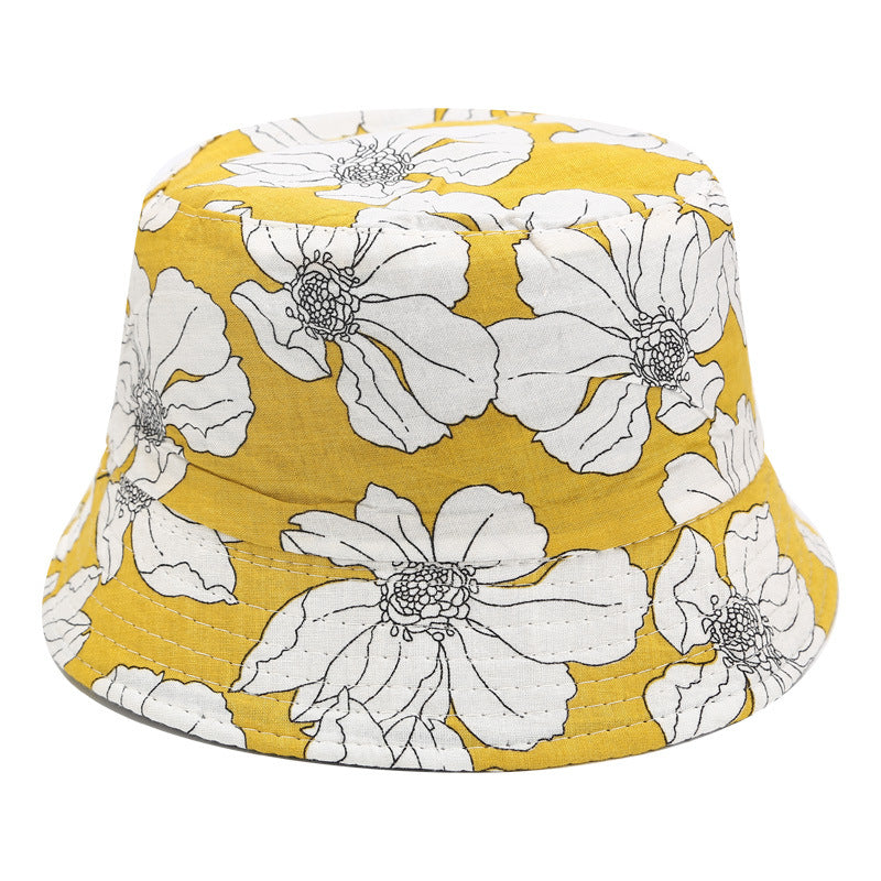 Floral Print Bucket Hat - A