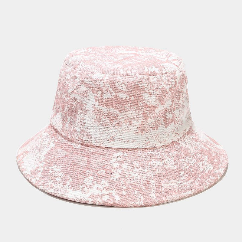 Floral Print Bucket Hat - E