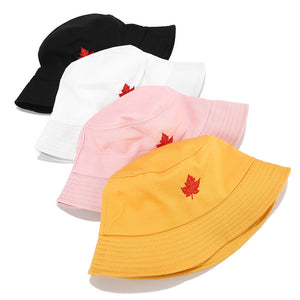 Embroidery Bucket Hat - Maple