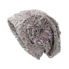 Load image into Gallery viewer, Women's Beanie - Lace Flower