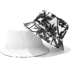 Fruit Print Bucket Hat - Coconut Tree