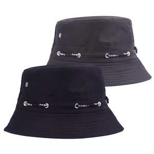 2 Pcs Set Solid Fashionable Bucket Hat